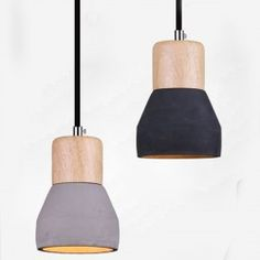 Lampa wisząca CONCRETE szary , czarny beton - LSH