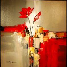 tableau fleur abstrait