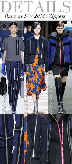 Trend Council:  Details - Runway FW 2014, ZIppers
