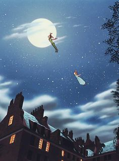 Fly to the Neverland Peter Pan and Wendy Disney Pixar, Walt Disney, Disney Animation, Disney And Dreamworks, Disney Love, Disney Magic, Disney Art, Disney Characters, Disney Peter Pan