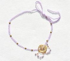 Lavender Ribbon Wedding Headband Boho Hippie by theELEPHANTpink, $9.50