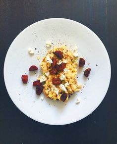 scrambled eggs feta and chorizo