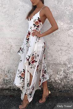 Sexy Random Floral Print Irregular Hem Backless Dress - Sexy Random Floral Print Irregular Hem Backless Dress Source by milavonderstra - Pretty Dresses, Sexy Dresses, Beautiful Dresses, Dress Outfits, Casual Dresses, Fashion Dresses, Prom Dresses, Formal Dresses, Backless Dresses
