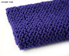 Purple knit infinity scarf snood cowl by FlowerWatch on Etsy