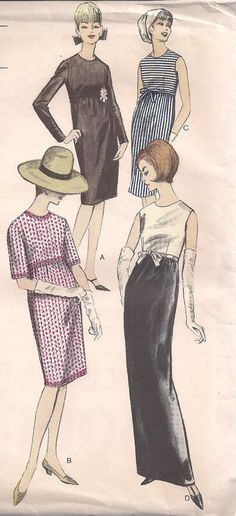 Vintage 1960s  Vogue 6310  Very Easy To Make One by PatternsOfYore