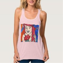 Shop Mermaid and a Clown Fish Tank Top created by fairychamber. Mermaid Top, Mermaid Shirt, Mermaid Illustration, Fishing Shirts, Racerback Tank Top, Fish Tank, Tank Tops, Clothing, Cotton