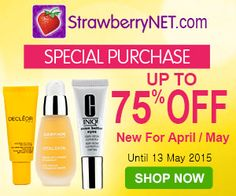 Up to 75% Off  Up to 75% Off #cosmetics  http://www.planetgoldilocks.com/cosmetics.htm #beauty #mothersday  StrawberryNET has a GREAT new offer  Shoppers will save Up to 75% OFF .r. StrawberryNET offers free shipping worldwide on all orders that are not fragrance-only orders.  -April/May Special Purchase: Up to 75% Off -  Save Up to 75% on April and May Products! This offer ends May 13th #skincare  #perfumes  http://www.planetgoldilocks.com/perfumes.htm