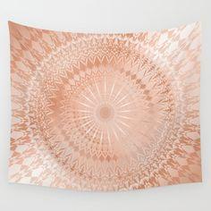 Rose Gold Deco Copper Deco #rosegold #mandala #walltapestry #copper #elegant #styletrend #baydur