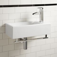 leiden wall mount sink with towel bar more