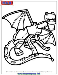 Ender Dragon Coloring Page