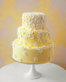 wedding cake; Yellow Wedding Cake; it'd be cute if i had a spring wedding :) but i might need to make a few changes..