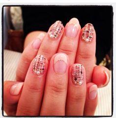 tweed check nail