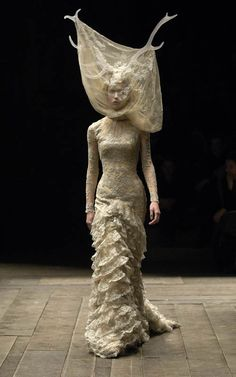 Widows of Culloden - Alexander McQueen  One day I'm going to start wandering around with antlers and a veil.