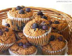 Quinoa, Chickpea Flour & Blueberry Muffins (gluten-free, vegan, high-protein)