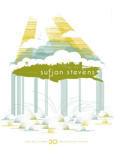 Sufjan Stevens at the Paramount Theater, Seattle. Designer, Frida Clements.
