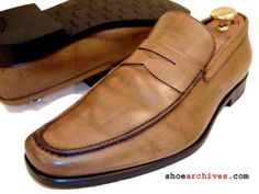 Bruno Magli MARSHY Mens Italian Dress Penny Loafers MADE IN ITALY