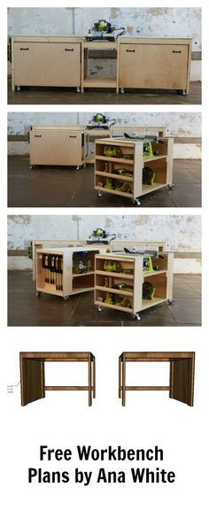 Corner workbench with measurements plywood and 2x4 for Free basement design tool