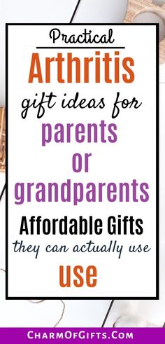 Extensive gift guide for arthritis sufferers.Suggestions include anti infammatory gifts, gadget gifts, anxiety and stress relief gifts.