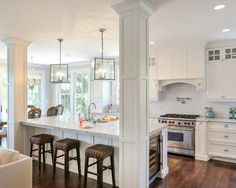 big kitchen islands with columns - Yahoo Image Search Results