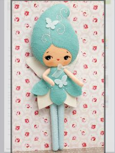 Blue Fairy doll, handmade. Felt pattern by Noia Land on etsy.co.uk https://www.etsy.com/uk/listing/122642312/pdf-blue-fairy-doll-plush-doll-pattern?ref=shop_home_active_5