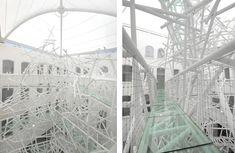 5-Story sculpture in a custard factory in Birmingham