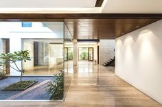 jardines acristalados para interiores modernos