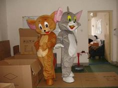 TOM CAT AND JERRY MOUSE 2 ADULT SIZE MASCOT COSTUMES | eBay