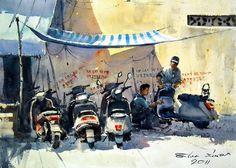 Hanoi (watercolor, 36x50 cm)