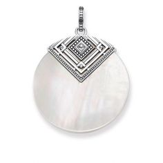 Thomas Sabo Africa Triangle Mother of Pearl Pendant - The Sterling Silver Com Silver Pendants, Silver Jewelry, Jewelry Shop, Jewelry Design, Jewellery Box, Irish Jewelry, Thomas Sabo, Claddagh