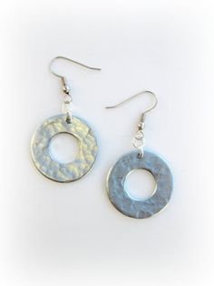 Upcycled hammered washer earrings FREE SHIPPING by urbancycled, $8.00