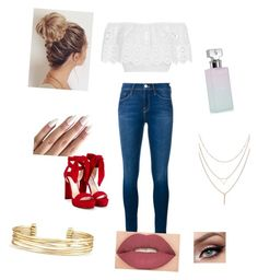 """""""Espagnole"""" by coudray-eve on Polyvore featuring Miguelina, Frame Denim, Jimmy Choo, Smashbox, Calvin Klein and Stella & Dot"""