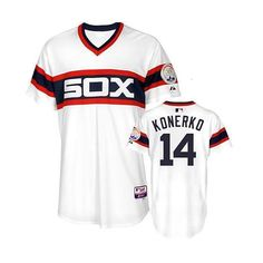 31646ddb4 MLB Men s Chicago White Sox Paul Konerko Authentic 1983 Alt. Home Cool base  Jersey