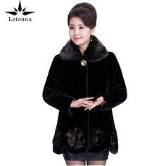 Leiouna Thick Plus Size High Quality 2020 Fashion Imitation Fur Coat Winter Mink Down Coats Ladies Warm Women's Parka Overcoats Coats For Women, Clothes For Women, 5 Ml, Womens Parka, Winter Coat, Mink, Faux Fur, Fur Coat, Plus Size