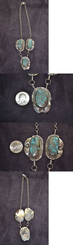 Southwestern 164301: Handmade Sterling Silver And Turquoise Necklace BUY IT NOW ONLY: $280.0