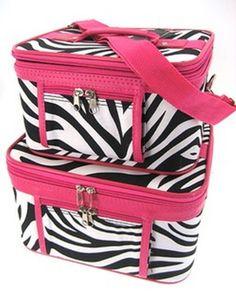 2 Piece  Zebra Print Luggage