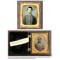 Names Recovered From History: Identifying Civil War Soldiers, William Sharpe Barnes (bottom) and Brother Jesse William Sharpe Barnes (top), the record showed, had two older brothers – including one who served as a captain in the 4th North Carolina.That brother, Jesse Sharpe Barnes, was killed at the Battle of Seven Pines near Richmond, Va., in the late spring of 1862. 2nd photo.Watson felt certain he had discovered the identity of the captain in the photo from the Florida estate – and, by…