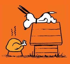Snoopy celebrates Thanksgiving