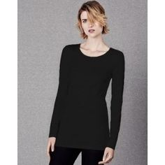 Scoop Neck Long Layering T Shirt
