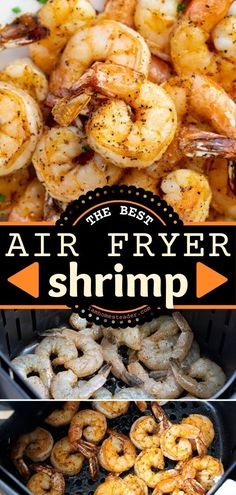Air Fryer Shrimp is a Gameday food that starts with seasoned shrimp ready to eat in about 10 minutes! Share this football party appetizer recipe with your friends and family. It's the best snack idea for Gameday! Savoury Dishes, Food Dishes, Yummy Appetizers, Appetizer Recipes, Easy Main Dish Recipes, Baked Chicken Meatballs, Air Fried Food, Chicken Bites, How To Cook Shrimp