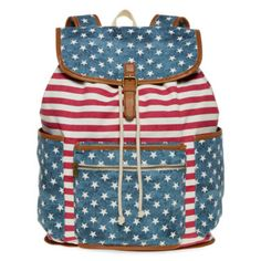 For a patriotic finish, our red, white and blue canvas backpack embodies Americana at its best.