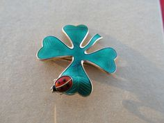 David Andersen-Norway Sterling & Enamel 4 Leaf Clover W/ Lady Bug    Jewelry & Watches, Fine Jewelry, Fine Pins & Brooches   eBay!
