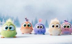 The Angry Birds Movie: Happy Holidays clip stars the Hatchlings Bird Wallpaper, Cartoon Wallpaper, Angry Birds Funny, Gif Noel, Birds Voice, Bunny Quotes, Birds Online, Gifs, Princess Drawings