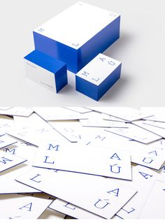 Unique Visual Identity - minimalist blue business card design