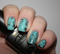 Turquoise Stone Mani