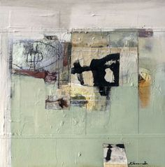 Wallmarks by katherine chang liu | Mixed media on canvas 2010 20 X 20 inches