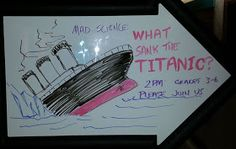 Abby the Librarian: What Sank the Titanic? Great science activity for the library