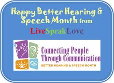 Happy Better Hearing and Speech Month to all my fellow Speech Therapists <3 xoxo