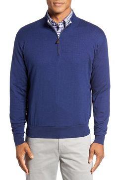 e9d13fec6 Peter Millar Crown Quarter Zip Sweater available at  Nordstrom Zip Sweater