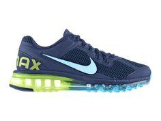 Nike Air Max 2013 Chaussures Nike Pas Cher Homme Marine Armory/bleu gamma Volt 554886-447