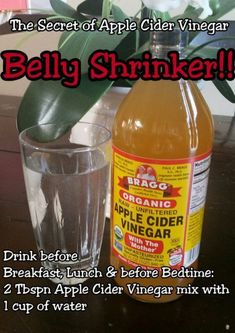 Daily detox drinks flush toxins, lose body fat reduce inflammation, boost energy and speed weight loss. Cleanse yourself with detox drinks. Apple Cider Vinegar Uses, Apple Cider Vinegar Remedies, Apple Cider Vinegar For Weight Loss, Apple Sider Vinegar Diet, Apple Coder Vinegar Drink, Drinking Apple Cider Vinegar, Apple Cider Diet, Healthy Detox, Healthy Drinks